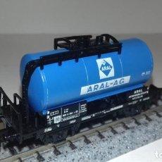 Comboios Escala: MINITRIX N CISTERNA 2 EJES ARAL -- L50-320 (CON COMPRA DE 5 LOTES O MAS, ENVÍO GRATIS). Lote 293810388