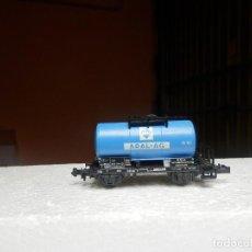 Trenes Escala: VAGÓN CISTERNA ARAL ESCALA N DE MINITRIX. Lote 293979568