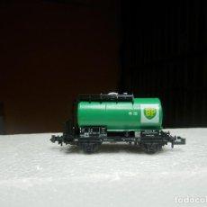 Trenes Escala: VAGÓN CISTERNA BP ESCALA N DE MINITRIX. Lote 293979593