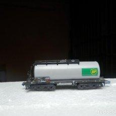 Trenes Escala: VAGÓN CISTERNA BOGIES BP ESCALA N DE MINITRIX. Lote 293979698