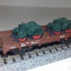 Trenes Escala: MINITRIX N BORDE BAJO CARGA TRACTORES -- L50-322 (CON COMPRA DE 5 LOTES O MAS, ENVÍO GRATIS). Lote 295502203