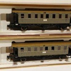 Trenes Escala: 2 VAGONES BRAWA REF: 1858 VISUALMENTE BUEN ESTADO, SE DESCONOCE SI FALTA ALGUNA PIEZA, NO PROBADA. Lote 296898808