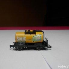Trenes Escala: VAGÓN CISTERNA ESCALA N DE MINITRIX. Lote 297118453
