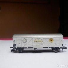 Trenes Escala: VAGÓN CERRADO ESCALA N DE MINITRIX. Lote 297118913