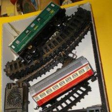 Trenes Escala: TREN DE 5 PIEZAS PAYÁ.1 LOCOMOTORA+1CARBONERA+TRES VAGONES+VIAS. Lote 21523905