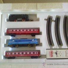 Trenes Escala: TREN ELECTRICO PAYÀ AÑOS 70. LOCOMOTORA SNCF BB-15006 AZUL + ..... Lote 27806858