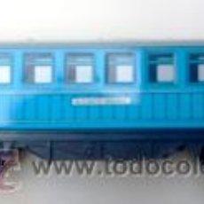 Trenes Escala: PAYA VAGON PASAJEROS ALICANTE-MADRID -METAL LITOGRAF. 14,5 CMS + ENGANCHES -AÑOS 70- - VELL I BELL. Lote 33172034