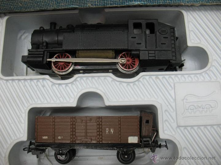 Trenes Escala: Paya -tren completo,locomotora con tres vagones y transformador - Foto 2 - 40227921