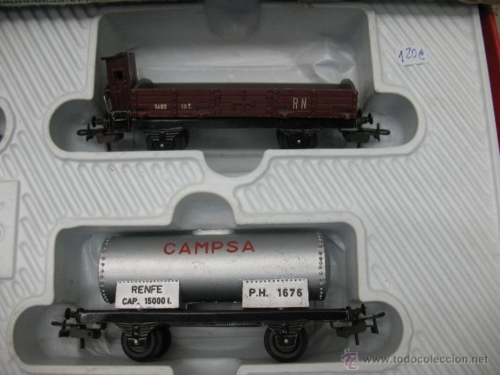 Trenes Escala: Paya -tren completo,locomotora con tres vagones y transformador - Foto 3 - 40227921