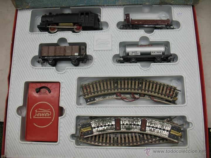 Trenes Escala: Paya -tren completo,locomotora con tres vagones y transformador - Foto 6 - 40227921