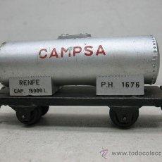 Trenes Escala: PAYA,RENFE,VAGON CISTERNA CAMPSA -P.H. 1676,ESCALA HO. Lote 41284777