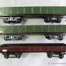 Trenes Escala: 3 VAGONES DE CARGA MERCANCIAS HO. Lote 50157950