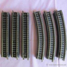 Trenes Escala: 18 TRAMOS DE VIAS PAYÁ H0 9 CURVAS (1616) Y 9 RECTAS (1617). Lote 54287412