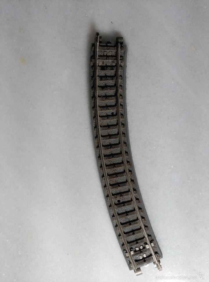 Trenes Escala: CONJUNTO DE 6 VIAS CURVAS DE TREN ESCALA H0 FABRICADAS POR PAYA Nº1616 - Foto 2 - 55933169