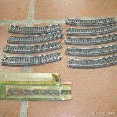 Trenes Escala: LOTE 9 VIAS DE TREN O FERROCARRIL DE PAYA, VIA, Y CAJA ANTIGUA.. Lote 60852367