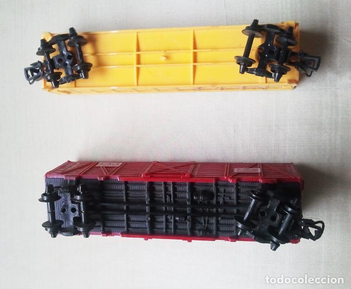 Trenes Escala: 2 Vagones Paya H0. Carga rojo y Southern Pacific.Años70.Vell i Bell - Foto 2 - 61985220