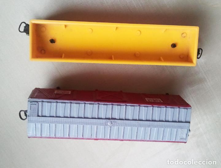 Trenes Escala: 2 Vagones Paya H0. Carga rojo y Southern Pacific.Años70.Vell i Bell - Foto 3 - 61985220