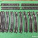 Trenes Escala: LOTE DE 14 TRAMOS DE VÍA PAYA - TREN - FERROCARRIL (N° 1616 Y 1617). Lote 64045695