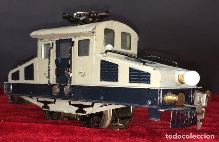 Trenes Escala: LOCOMOTORA LLAMADA COCODRILO. PAYÁ. CAJA ORIGINAL. ESPAÑA. CIRCA 1930 - Foto 2 - 69487069