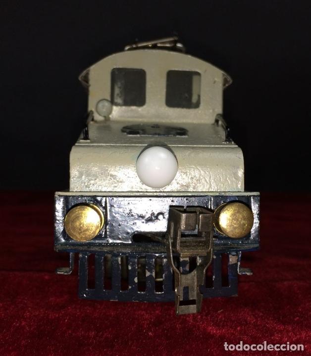 Trenes Escala: LOCOMOTORA LLAMADA COCODRILO. PAYÁ. CAJA ORIGINAL. ESPAÑA. CIRCA 1930 - Foto 6 - 69487069