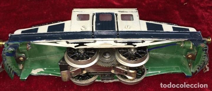 Trenes Escala: LOCOMOTORA LLAMADA COCODRILO. PAYÁ. CAJA ORIGINAL. ESPAÑA. CIRCA 1930 - Foto 15 - 69487069