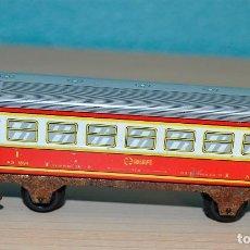 Trenes Escala: ANTIGUO VAGON RENFE DE PASAJEROS 1º CLASE DE HOJALATA, ESCALA HO. Lote 70007381