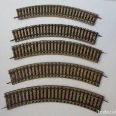 Trenes Escala: 5 CURVAS PAYA ESC. HO DE CHAPA AÑOS 50.. Lote 75513923