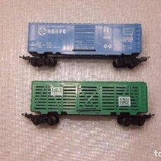 Trenes Escala: PAYA. DOS VAGONES ESCALA HO. Lote 77642145