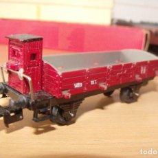 Trenes Escala: VGON CARGA PAYA ESCALA H0 BORDE BAJO CON GARITA. Lote 83973112