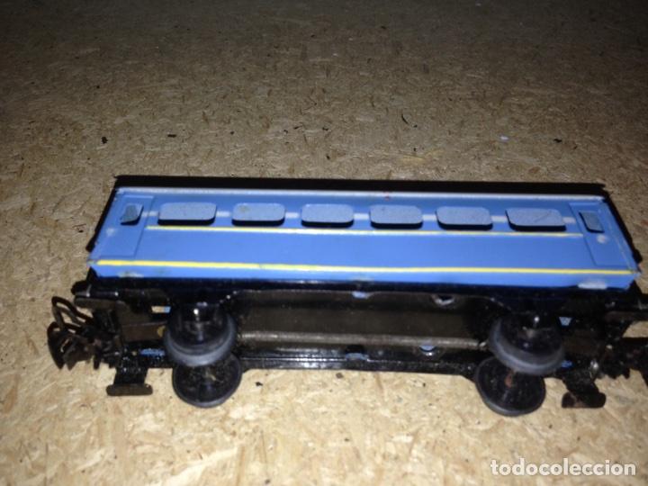 Trenes Escala: Vagon paya azul pasajeros H0 1940 - Foto 2 - 86771399