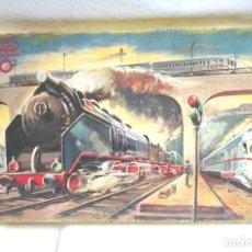 Trenes Escala: TREN DE PAYA 1681 AÑOS 50, LOCOMOTORA TENDER 1401, 2 VAGONES PASAJEROS Y 12 VIAS. Lote 87005080