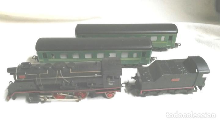 Trenes Escala: Tren de Paya 1681 años 50, Locomotora Tender 1401, 2 vagones pasajeros y 12 vias - Foto 3 - 87005080