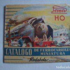 Trenes Escala: CATÁLOGO DE FERROCARRILES MINIATURA PAYÁ ESCALA HO. RODABOLAS (BARCELONA, 1960). H0. Lote 111213251