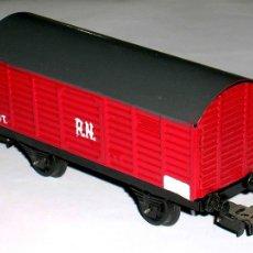 Trenes Escala: VAGÓN CERRADO RN RENFE, FABRICADO EN LATA, PAYA ESC. H0, ORIGINAL AÑOS 60. EXCELENTE. Lote 111863894