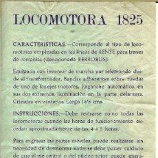Trenes Escala: FERROBUS INSTRUCCIONES LOCOMOTORA PAYA. Lote 114104503