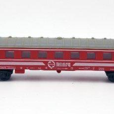 Trenes Escala: VAGON PASAJEROS RENFE - PAYA - MADE IN SPAIN - ESCALA H0 - COLOR ROJO. Lote 115572863