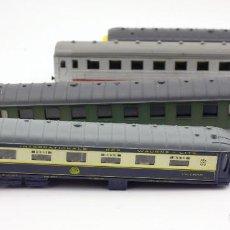 Trenes Escala: LOTE VAGONES TREN - ESCALA H0 - PAYA, JOUEF... - IDEAL DESPIECE, RESTAURACIÓN O PIEZAS. Lote 115573691