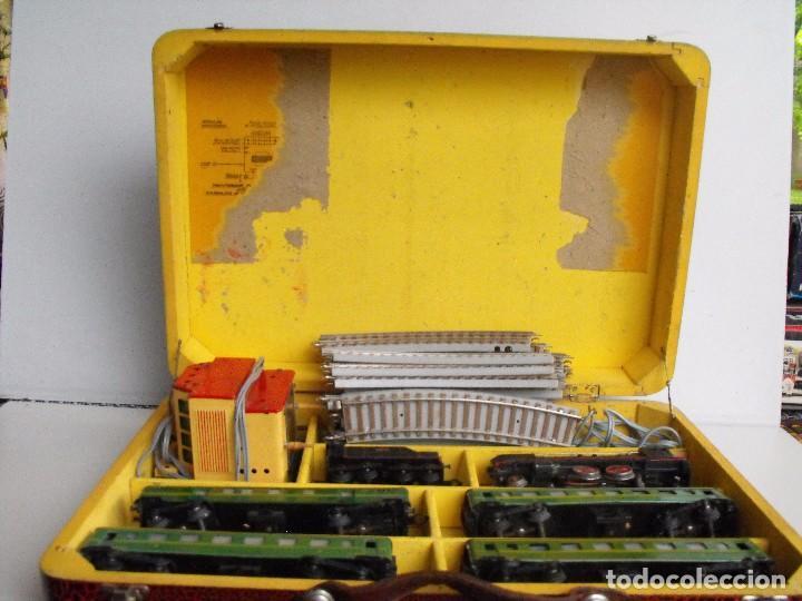 Trenes Escala: Tren eléctrico PAYA en maletín de madera. Años 40-50. - Foto 2 - 127839603