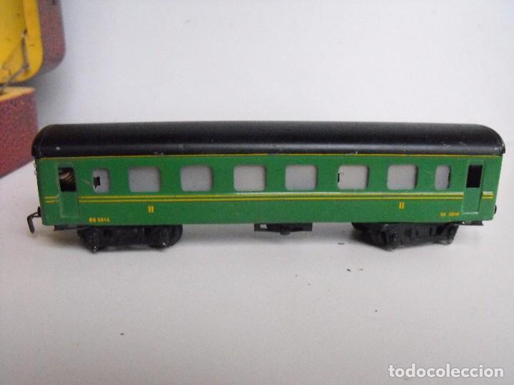 Trenes Escala: Tren eléctrico PAYA en maletín de madera. Años 40-50. - Foto 26 - 127839603