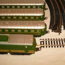 Trenes Escala: LOCOMOTORA PAYA BB 15006 HO Y VAGONES COCHE-CAMA. Lote 116649467