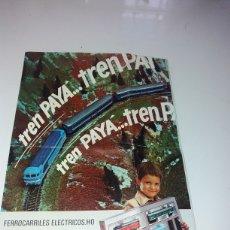 Trenes Escala: CATALOGO TRENES PAYA HO. Lote 133439370