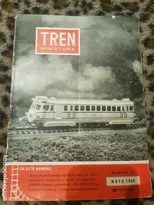 REVISTA TREN MINIATURA, AÑO 1958 (Juguetes - Trenes a Escala H0 - Payá H0)