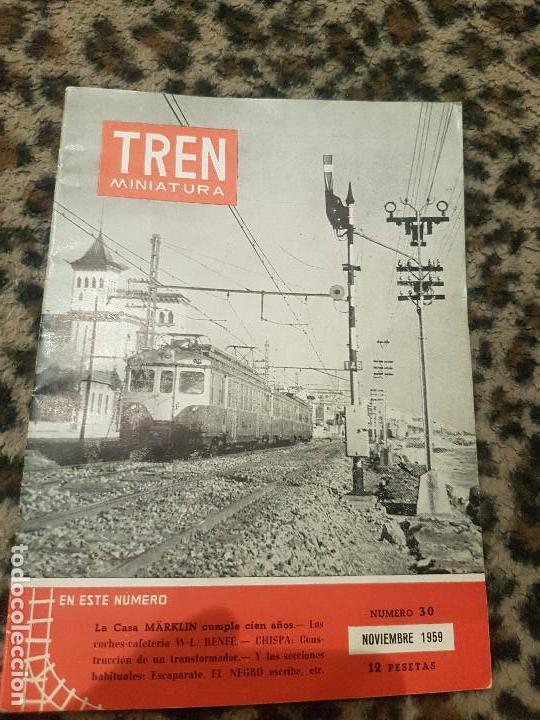 REVISTA TREN MINIATURA, AÑO 1959 (Juguetes - Trenes a Escala H0 - Payá H0)