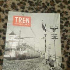 Trenes Escala: REVISTA TREN MINIATURA, AÑO 1959. Lote 136137842