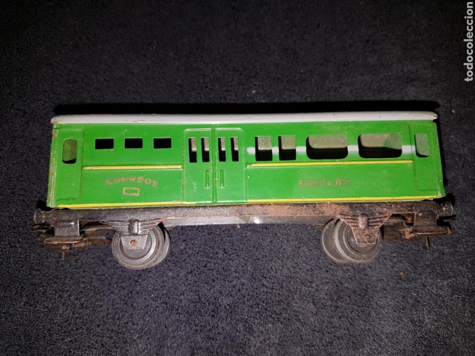Trenes Escala: Vagón tren hojalata paya correos H0 - Foto 3 - 138260030