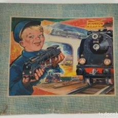 Trenes Escala: FERROCARRIL ELECTRICO A PILAS. PAYÁ. ESCALA H0. CAJA ORIGINAL. CIRCA 1960. . Lote 139964102