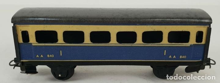 Trenes Escala: FERROCARRIL ELECTRICO A PILAS. PAYÁ. ESCALA H0. CAJA ORIGINAL. CIRCA 1960. - Foto 3 - 139964102