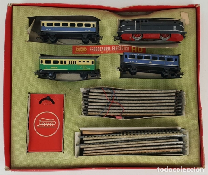Trenes Escala: FERROCARRIL ELECTRICO A PILAS. PAYÁ. ESCALA H0. CAJA ORIGINAL. CIRCA 1960. - Foto 5 - 139964102