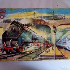 Trenes Escala: TREN PAYA EN CAJA ORIGINAL AÑOS 50-60 ESCALA H0 CON 5 VAGONES, VIAS Y TRANSFORMADOR EN CAJA MADERA.. Lote 140379270