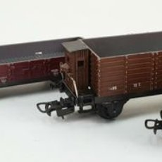 Trenes Escala: CONJUNTO DE 4 VAGONES DE TREN PAYÁ. ESCALA H0. CIRCA 1970. . Lote 140833562